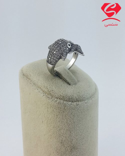 86 500x625 - انگشتر نقره دلفین زنانه