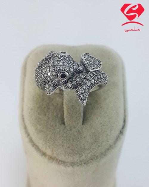 87 500x625 - انگشتر نقره دلفین زنانه