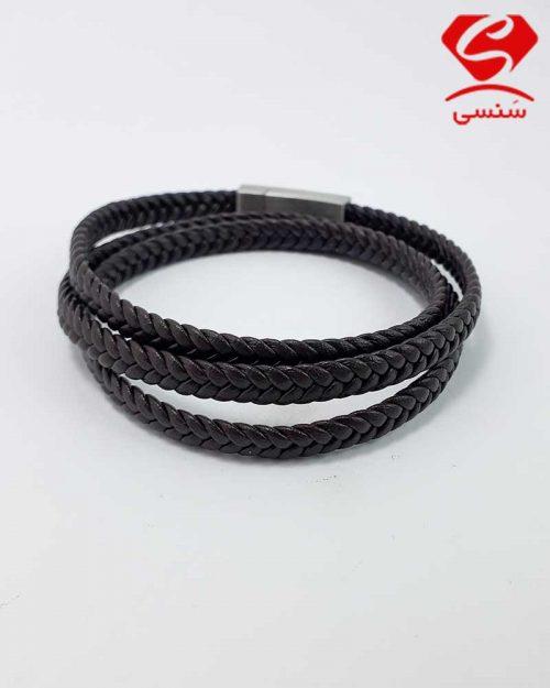 010 500x625 - دستبند چرم و استیل کد08
