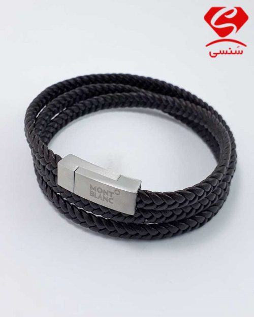 10 500x625 - دستبند چرم و استیل کد08