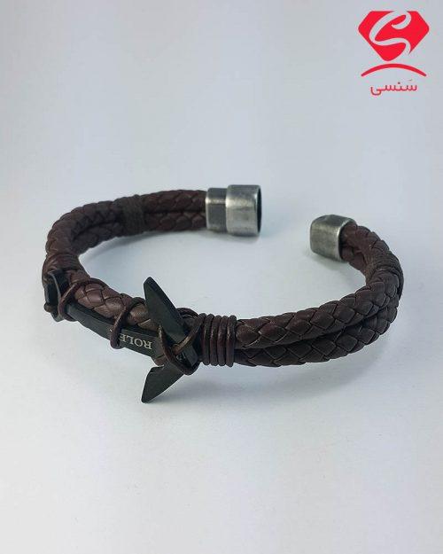 20 12 29 500x625 - دستبند چرم و استیل لنگر