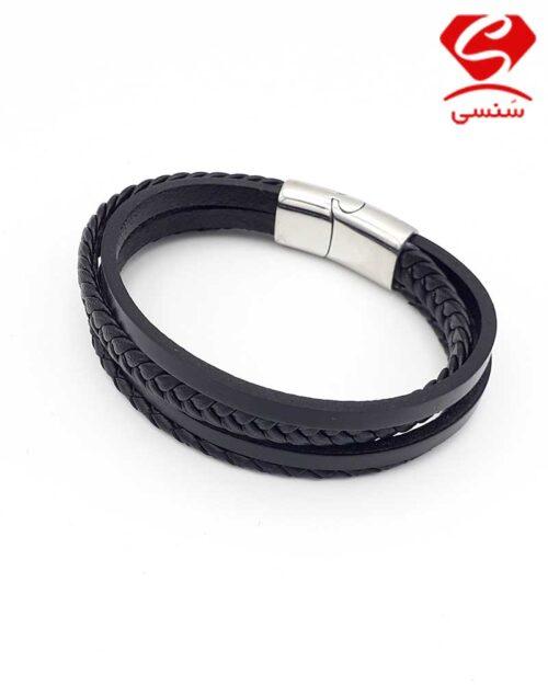 4 500x625 - دستبند چرم و استیل