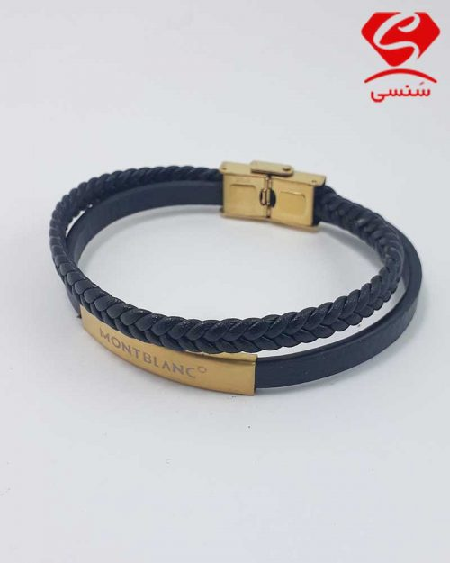 01 500x625 - دستبند چرم و استیل کد018