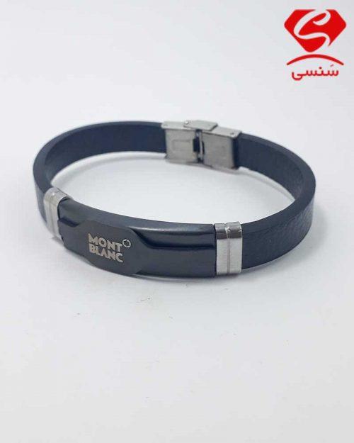 03 500x625 - دستبند چرم و استیل کد020