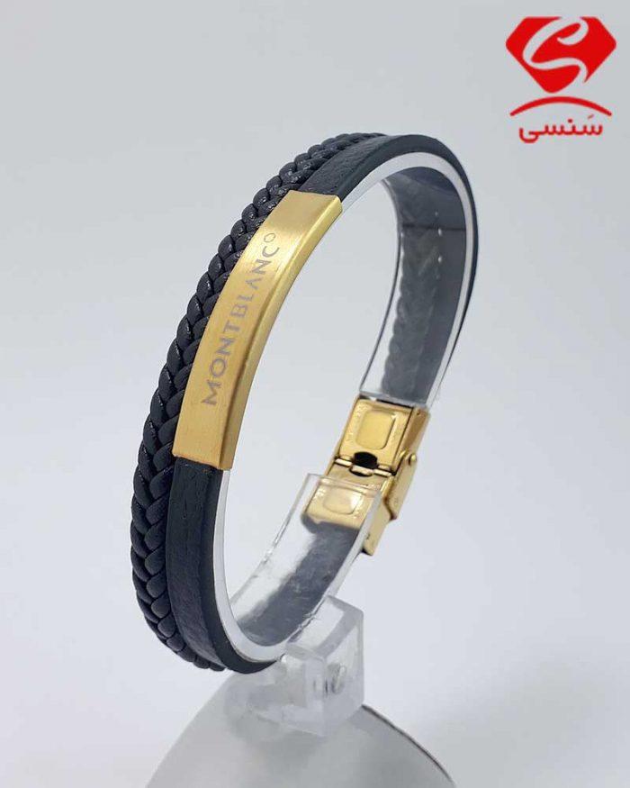 دستبند چرم و استیل اسپرت