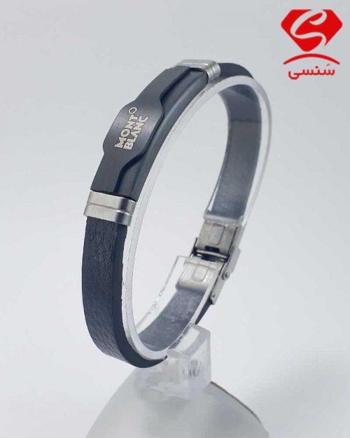 3 500x625 - دستبند چرم و استیل کد020