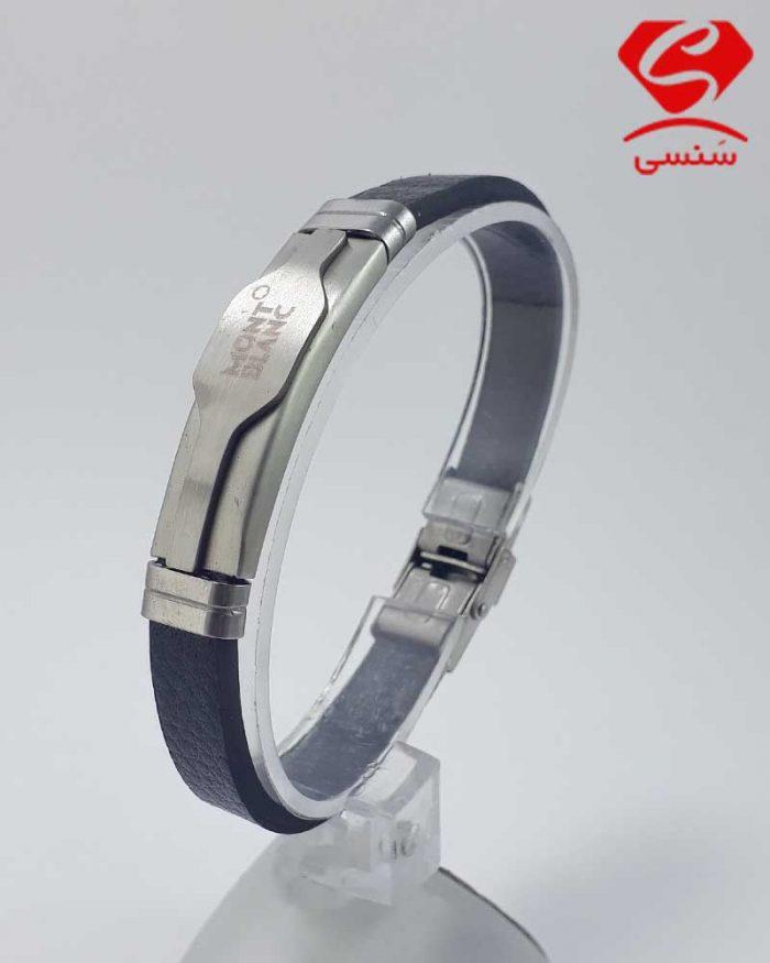 4 700x875 - دستبند چرم و استیل کد022