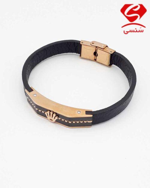 10 500x625 - دستبند چرم و استیل کد09