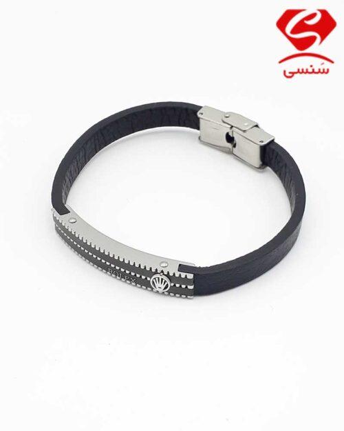 20 500x625 - دستبند چرم و استیل کد024