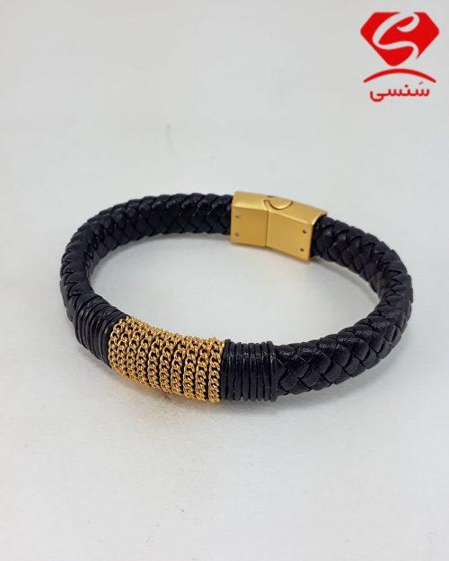 d012 500x625 - دستبند چرم و استیل کد021