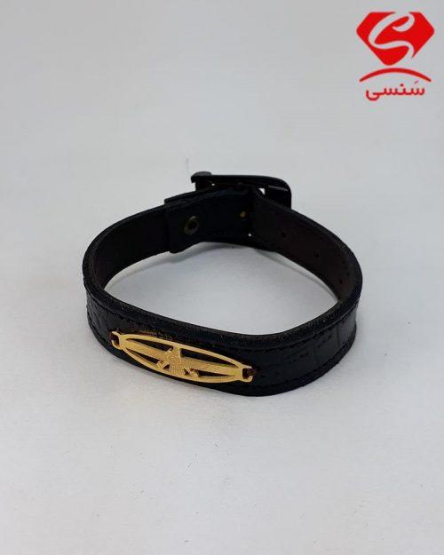 d016 500x625 - دستبند چرم و استیل کد015