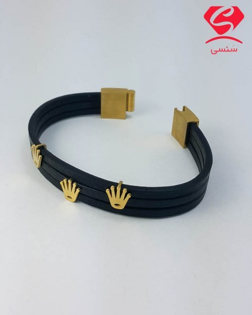 khordad1 27 500x625 - دستبند چرم و استیل کد025