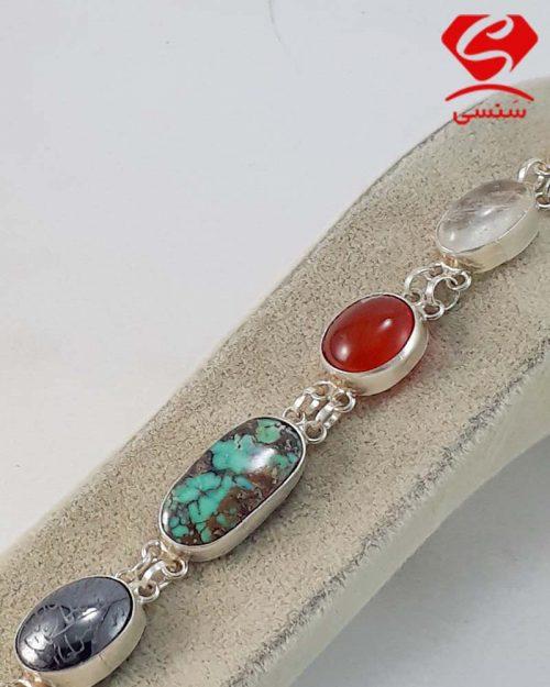 d02 500x625 - دستبند نقره سنگ اصل