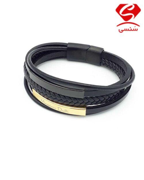 40 500x625 - دستبند چرم و استیل کد58