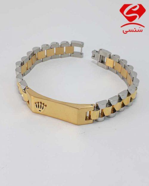 012 500x625 - دستبند استیل دو رنگ