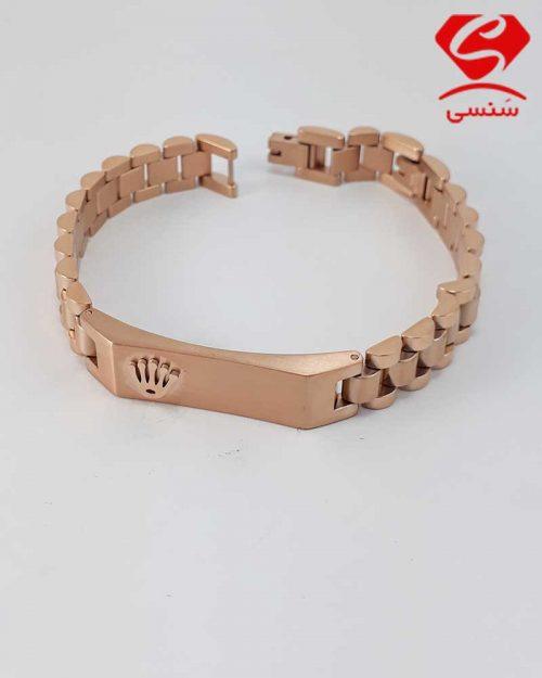 013 500x625 - دستبند استیل رزگلد