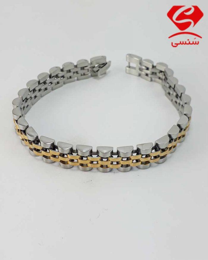 018 700x875 - دستبند استیل رولکس دو رنگ