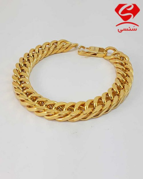 020 500x625 - دستبند استیل طلایی کارتیه