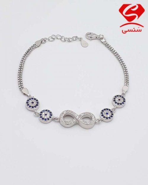 q012 500x625 - دستبند نقره کد128
