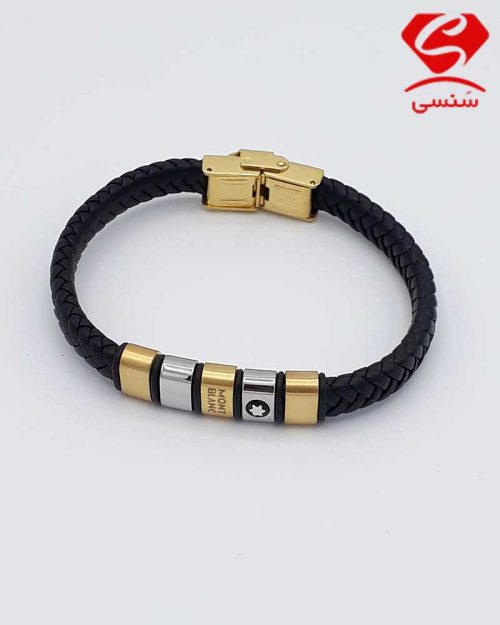 A011 500x625 - دستبند چرم و استیل کد76
