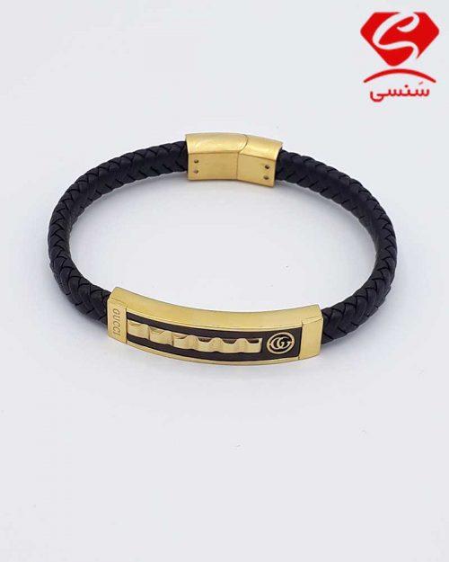 A013 500x625 - دستبند چرم و استیل کد74