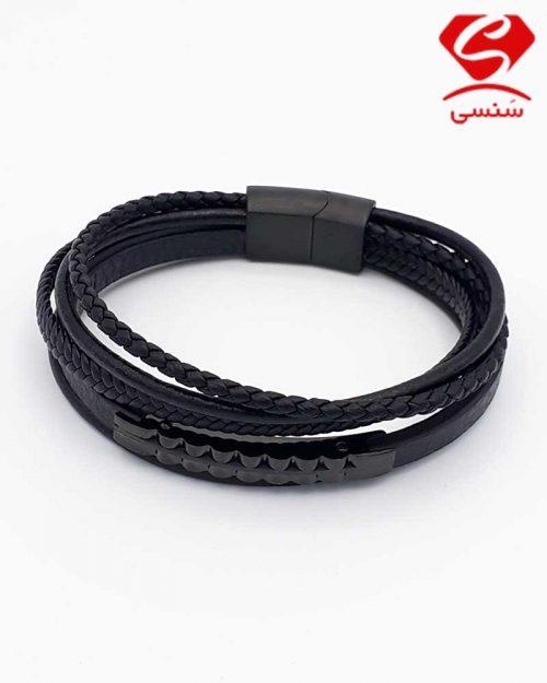 A02 500x625 - دستبند چرم و استیل کد68
