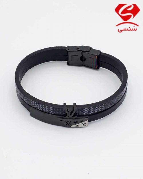 A03 500x625 - دستبند چرم و استیل کد69