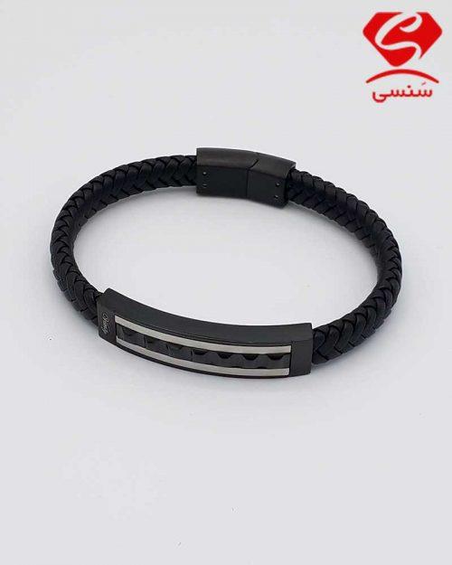 A04 500x625 - دستبند چرم و استیل کد70
