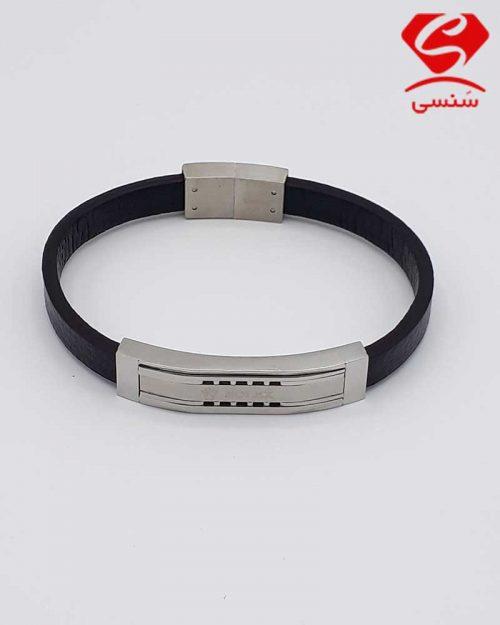 A06 500x625 - دستبند چرم و استیل کد73
