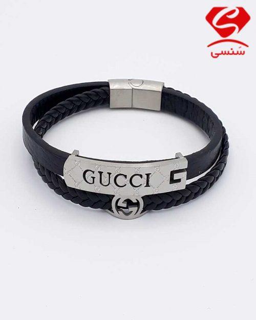 A08 500x625 - دستبند چرم و استیل کد75