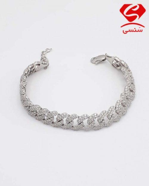 B01 500x625 - دستبند نقره کد146