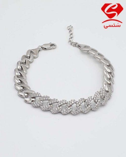 B02 500x625 - دستبند نقره زنانه طرح جواهر