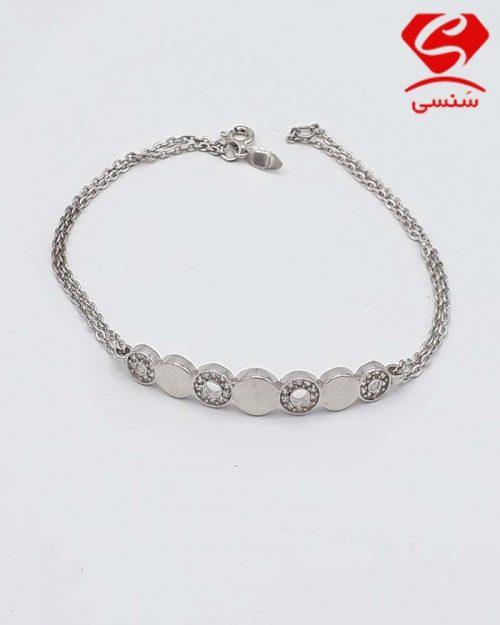 B07 500x625 - دستبند ظریف نقره کد150