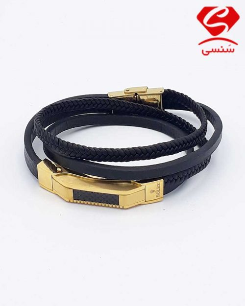 h06 500x625 - دستبند چرم و استیل کد54