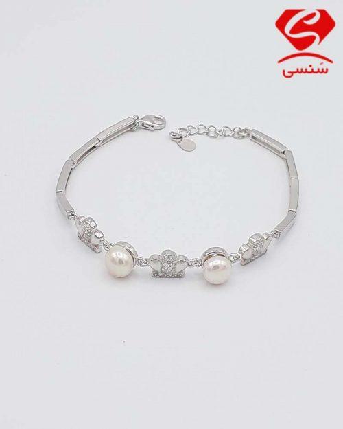 q02 500x625 - دستبند نقره مروارید