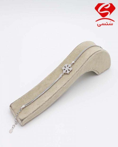 دستبند نقره برف دانه