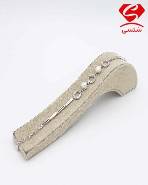 دستبند مروارید نقره