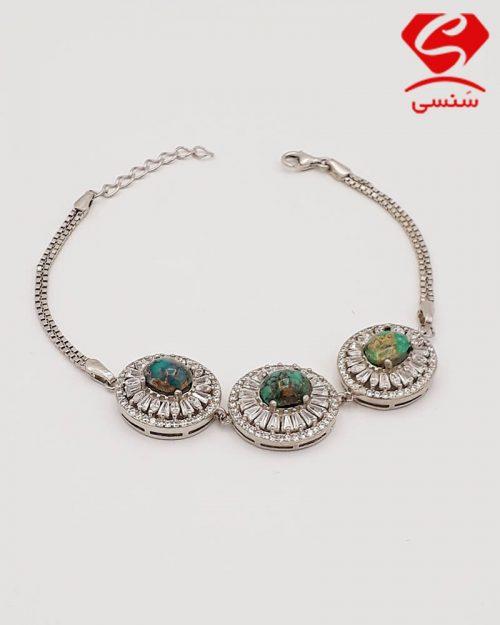 d05 500x625 - دستبند فیروزه روکش طلا
