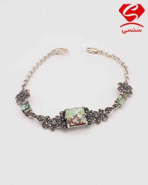 d09 500x625 - دستبند فیروزه مدل پروانه