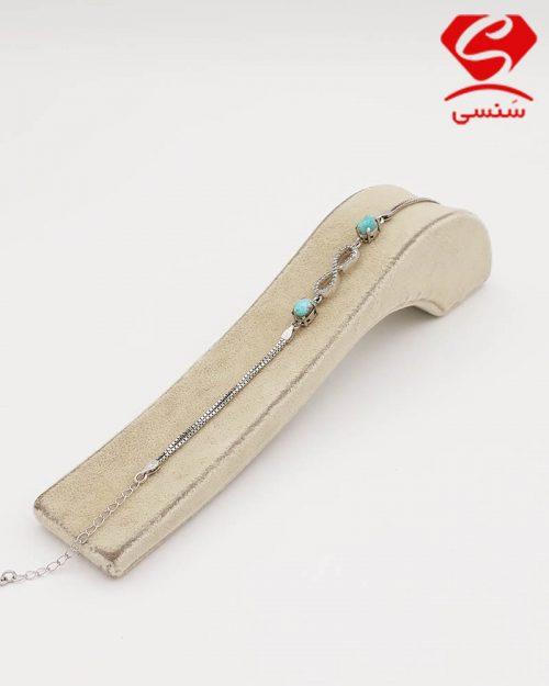 دستبند فیروزه طرح بینهایت