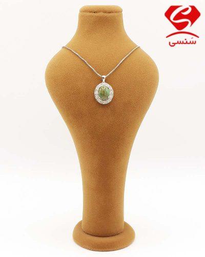گردنبند فیروزه مدل جواهر