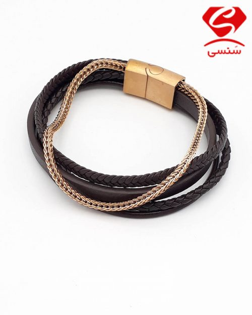 010 3 500x625 - دستبند چرم قهوه ای