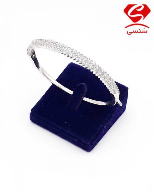 دستبند نقره مدل النگویی