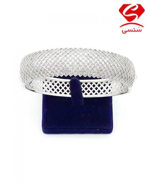 دستبند پهن نقره