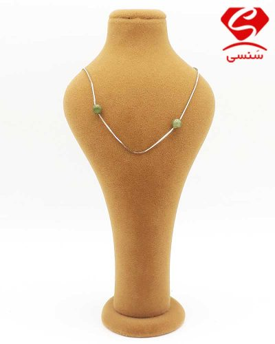 گردنبند نقره عقیق سبز