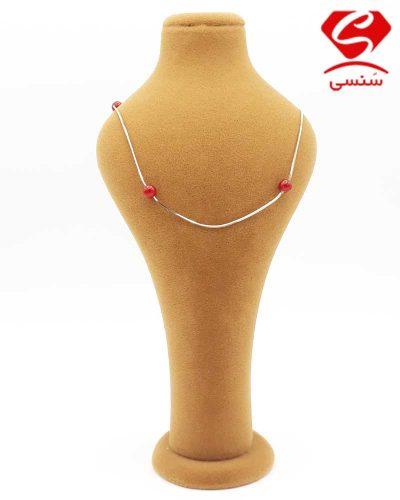 گردنبند نقره عقیق
