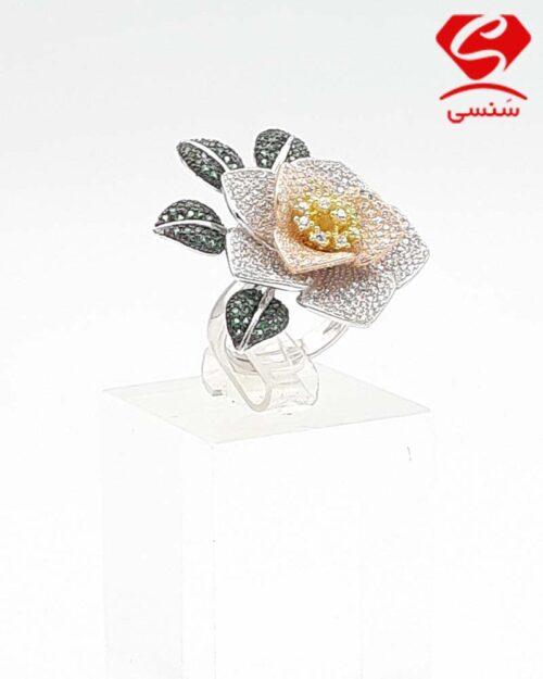 انگشتر نقره مدل گل